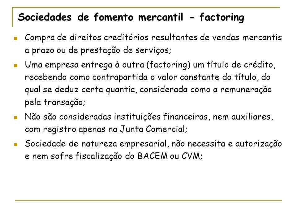 Sociedades de fomento mercantil - factoring