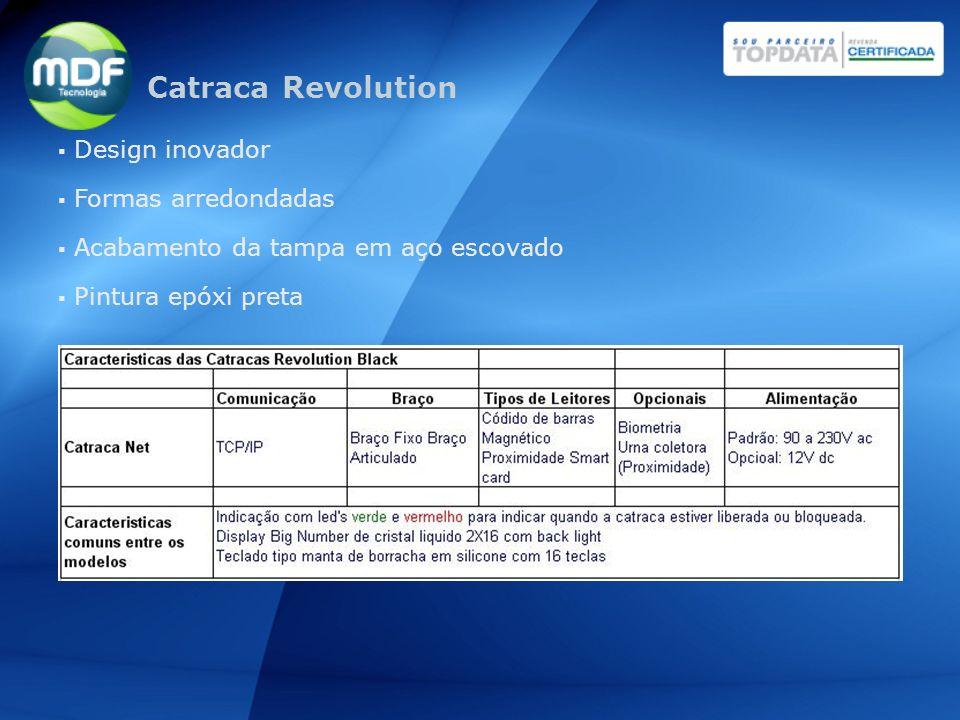 Catraca Revolution Design inovador Formas arredondadas