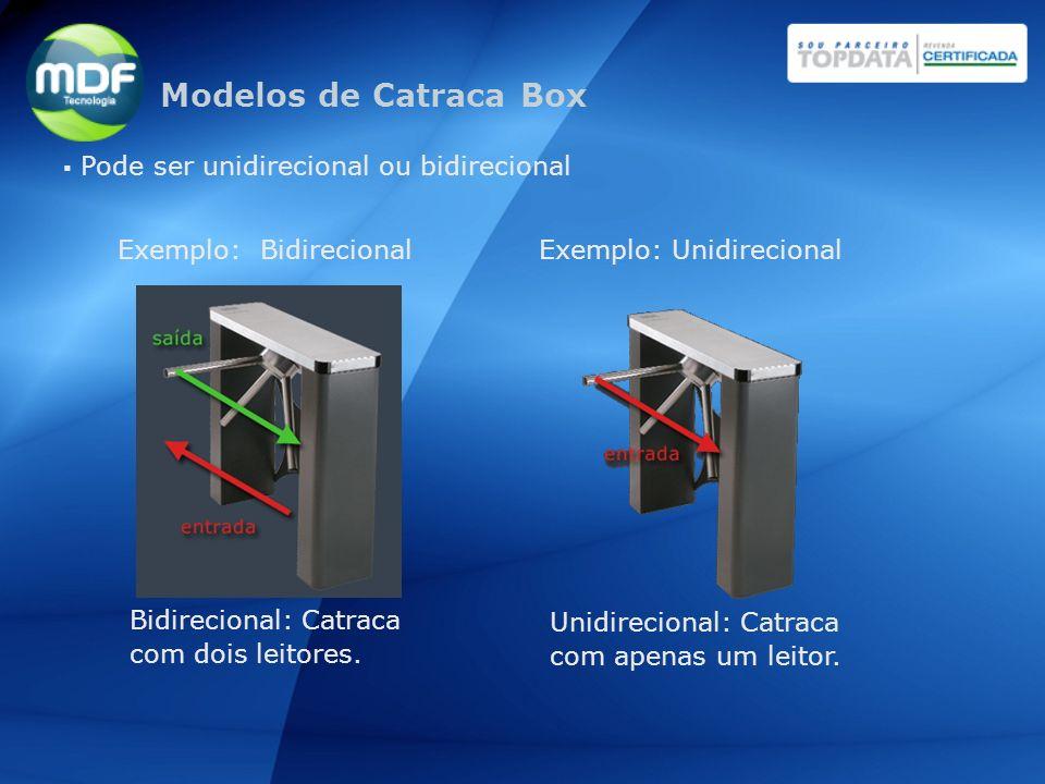 Modelos de Catraca Box Pode ser unidirecional ou bidirecional