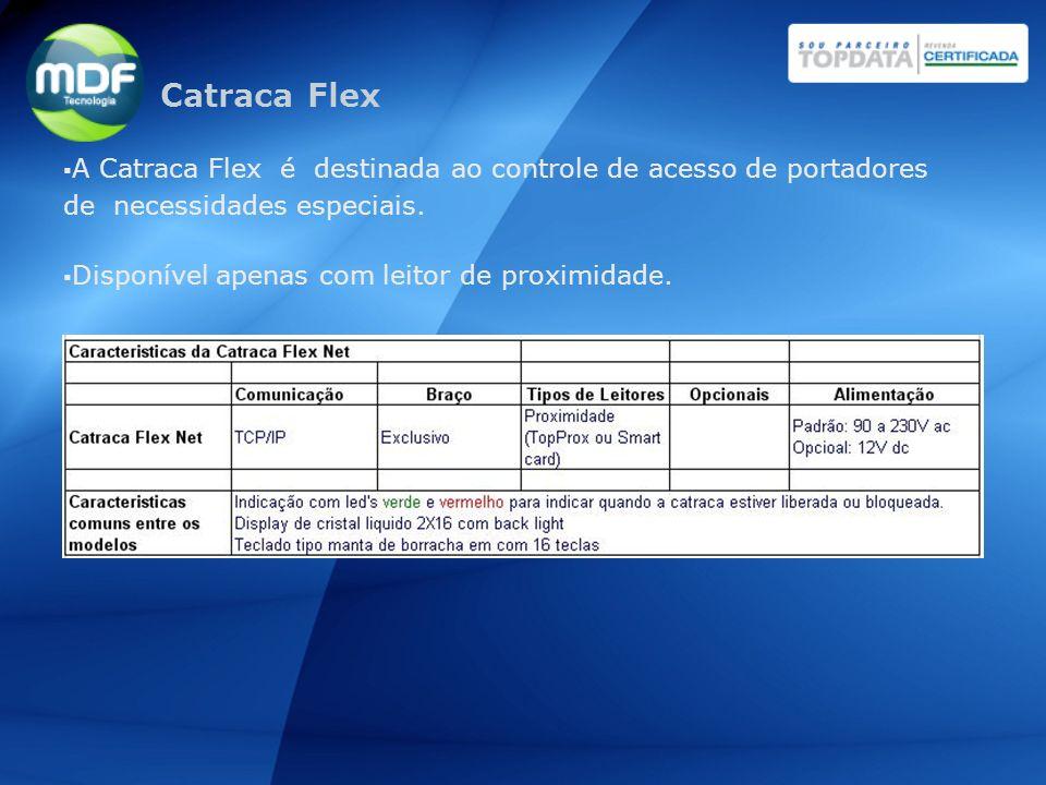 Catraca Flex A Catraca Flex é destinada ao controle de acesso de portadores de necessidades especiais.