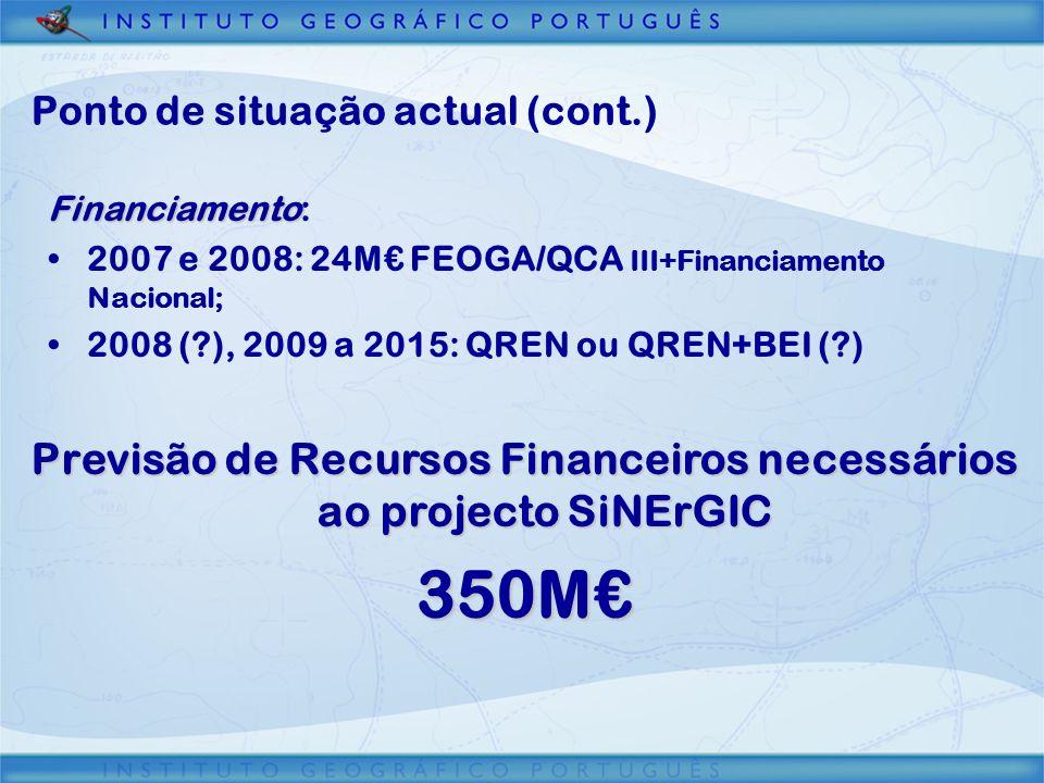 Previsão de Recursos Financeiros necessários ao projecto SiNErGIC