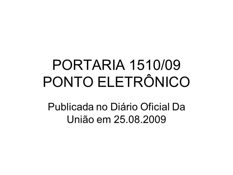 PORTARIA 1510/09 PONTO ELETRÔNICO