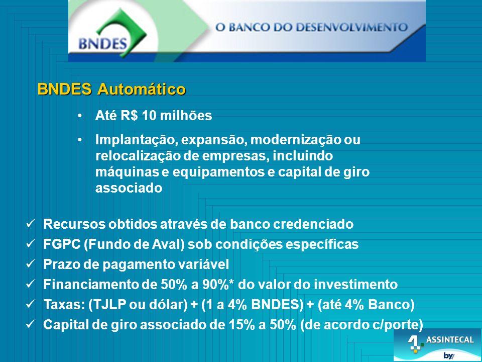 BNDES Automático Até R$ 10 milhões