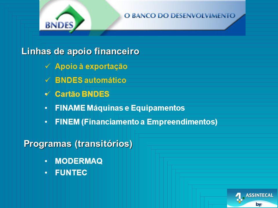 Linhas de apoio financeiro