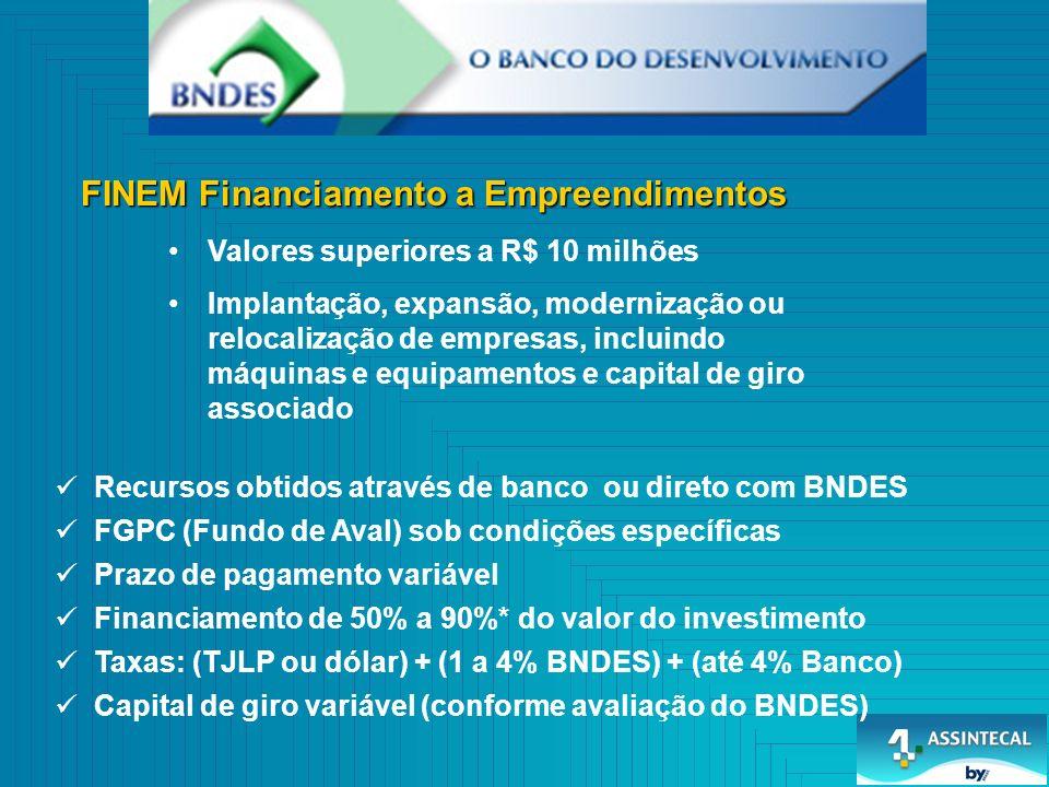 FINEM Financiamento a Empreendimentos