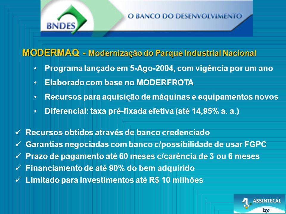 MODERMAQ - Modernização do Parque Industrial Nacional