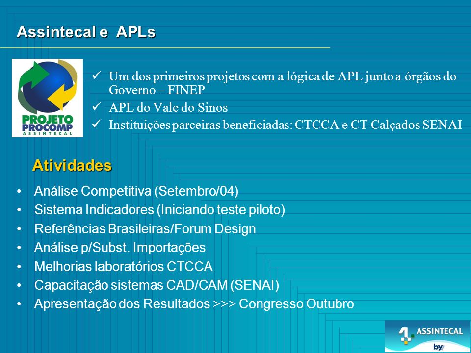 Assintecal e APLs Atividades