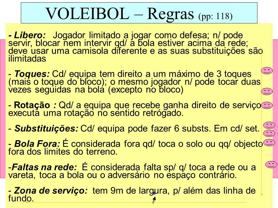 VOLEIBOL – Regras (pp: 118)