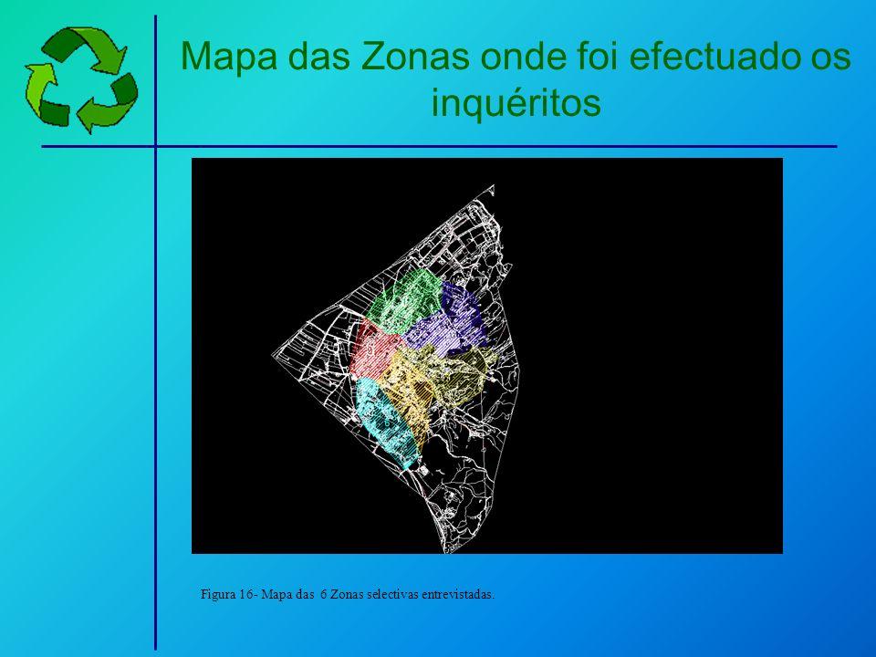 Mapa das Zonas onde foi efectuado os inquéritos