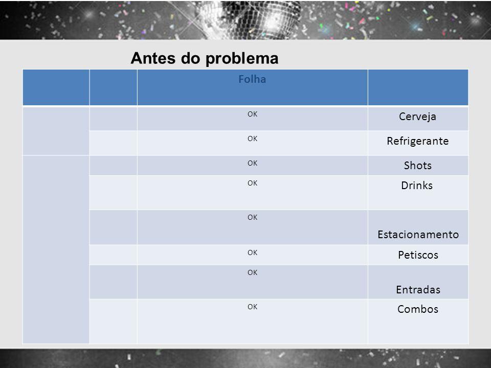 Antes do problema Folha Cerveja Refrigerante Shots Drinks