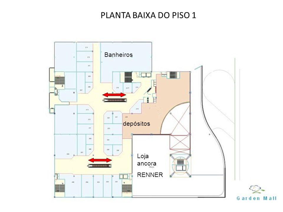 PLANTA BAIXA DO PISO 1 Banheiros depósitos Loja ancora RENNER