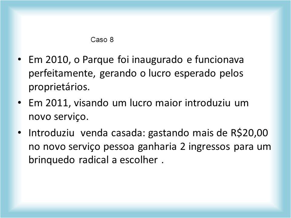 Em 2011, visando um lucro maior introduziu um novo serviço.