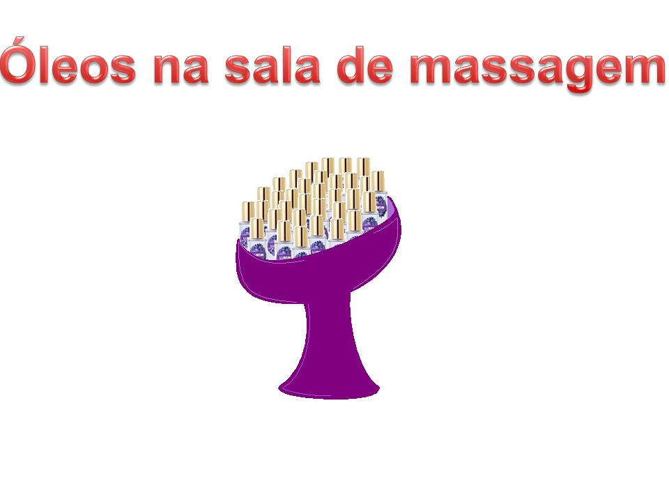 Óleos na sala de massagem
