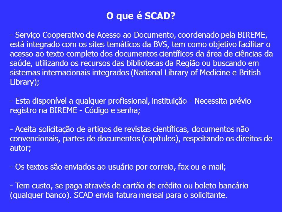 O que é SCAD