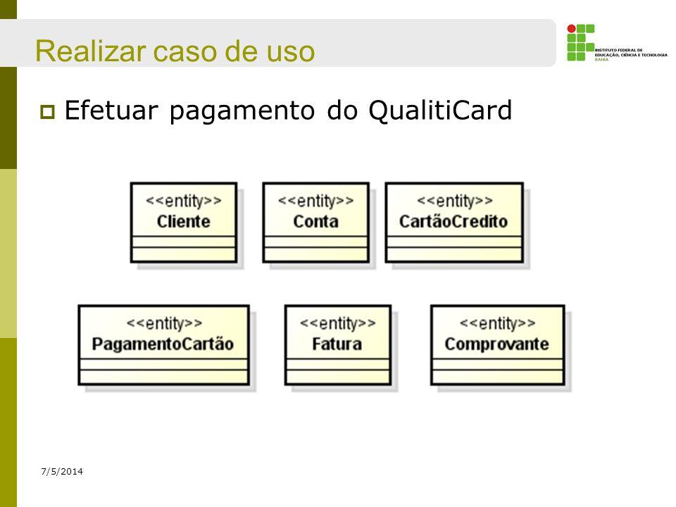 Realizar caso de uso Efetuar pagamento do QualitiCard 30/03/2017
