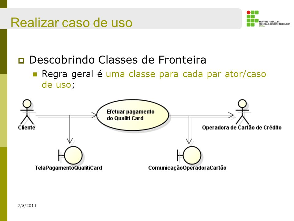 Realizar caso de uso Descobrindo Classes de Fronteira