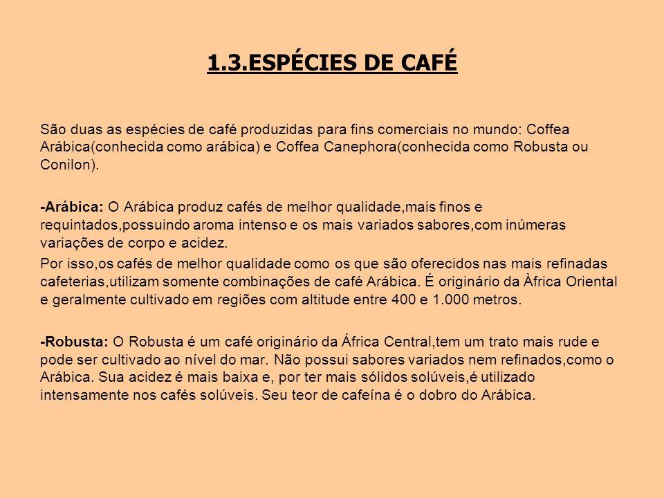 1.3.ESPÉCIES DE CAFÉ