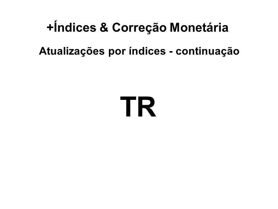 Atualizações por índices - continuação