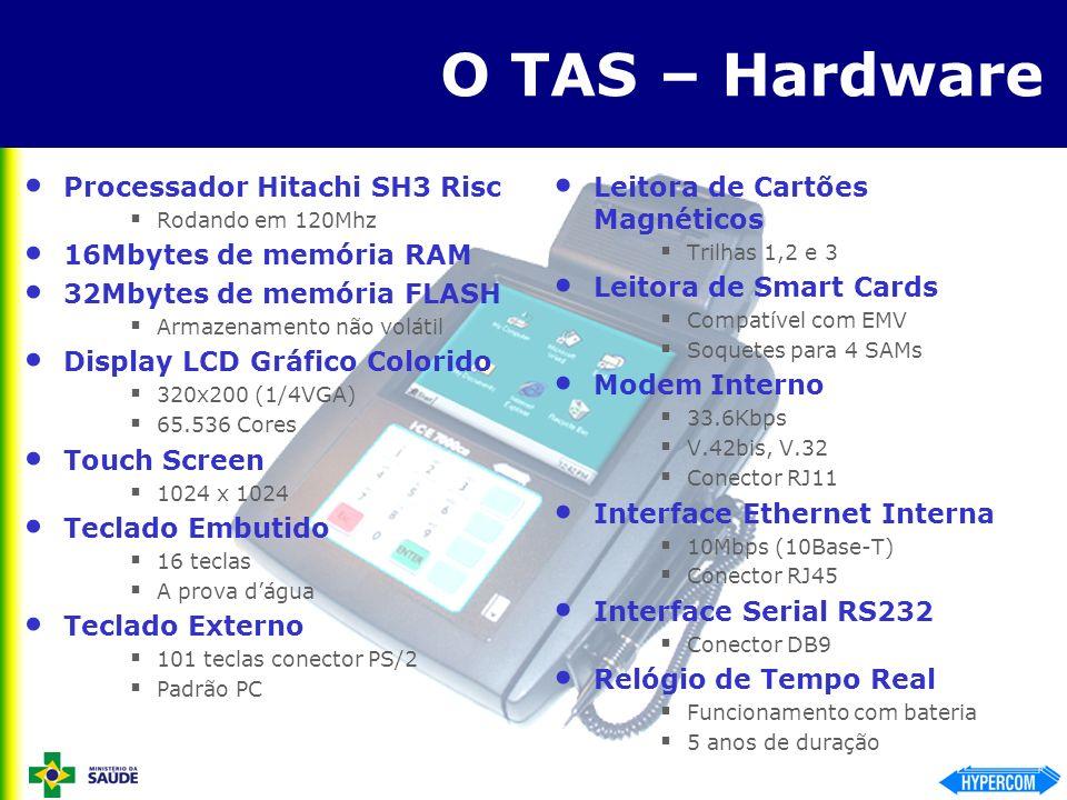 O TAS – Hardware Processador Hitachi SH3 Risc 16Mbytes de memória RAM