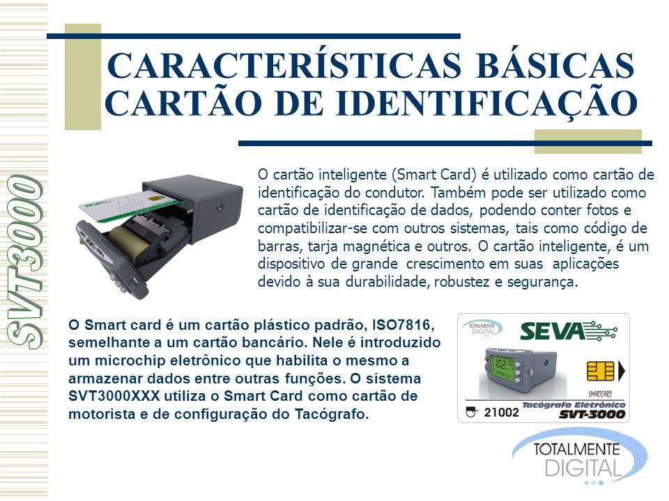 CARACTERÍSTICAS BÁSICAS CARTÃO DE IDENTIFICAÇÃO