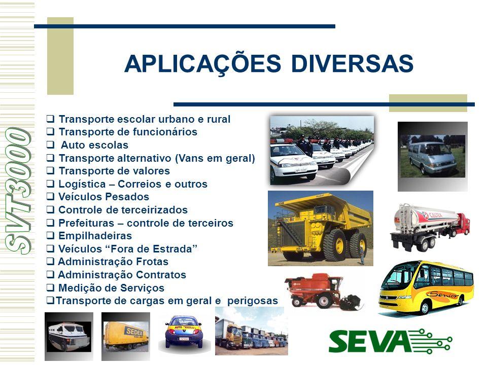 APLICAÇÕES DIVERSAS SVT3000 Transporte escolar urbano e rural