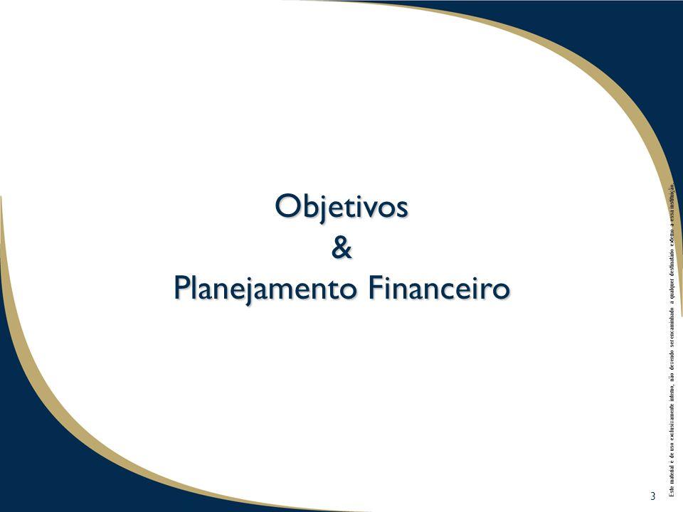 & Planejamento Financeiro