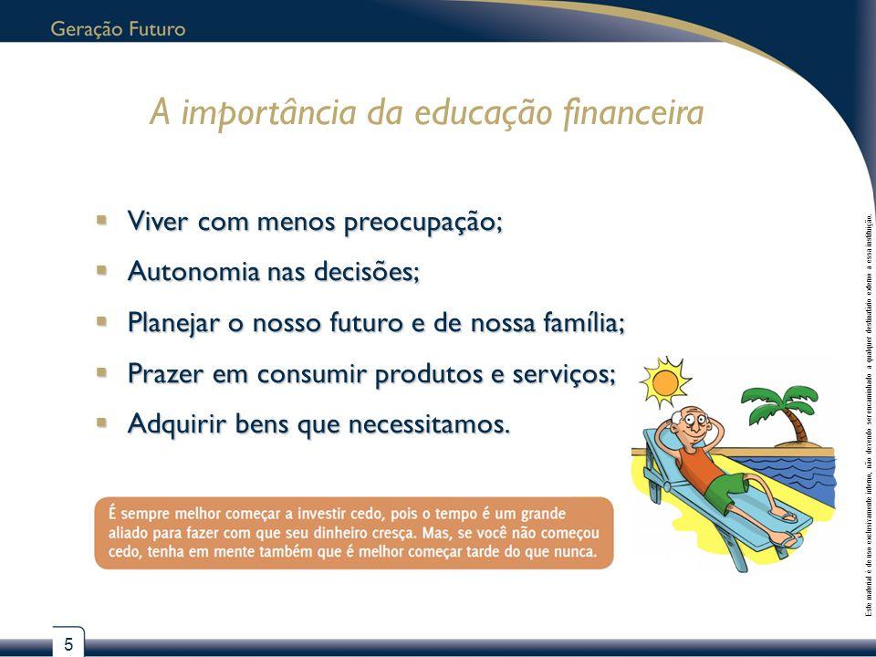 A importância da educação financeira