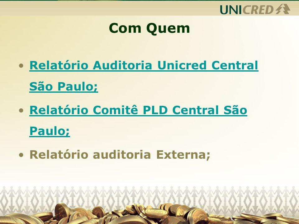 Com Quem Relatório Auditoria Unicred Central São Paulo;