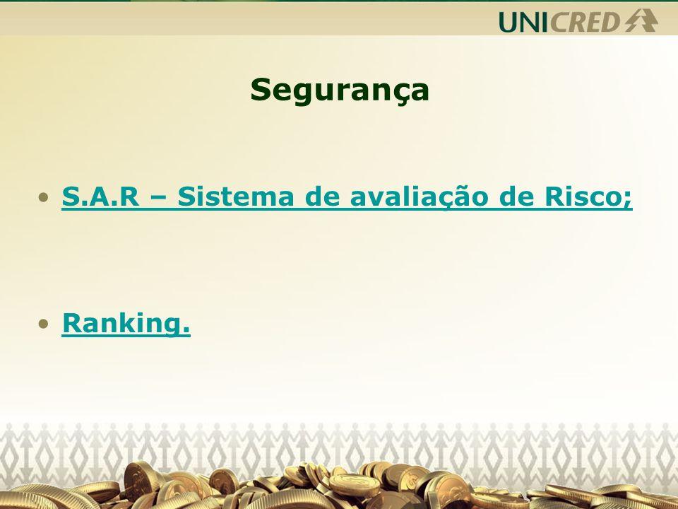 Segurança S.A.R – Sistema de avaliação de Risco; Ranking.