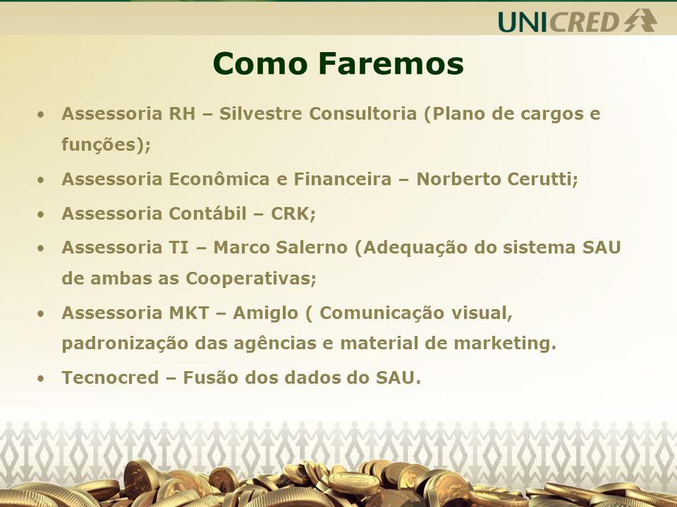 Como Faremos Assessoria RH – Silvestre Consultoria (Plano de cargos e funções); Assessoria Econômica e Financeira – Norberto Cerutti;