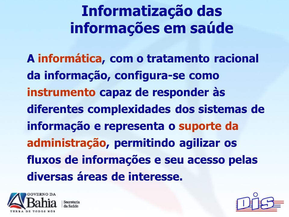 Informatização das informações em saúde