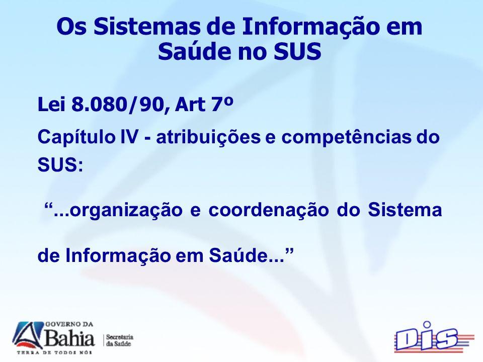 Os Sistemas de Informação em Saúde no SUS