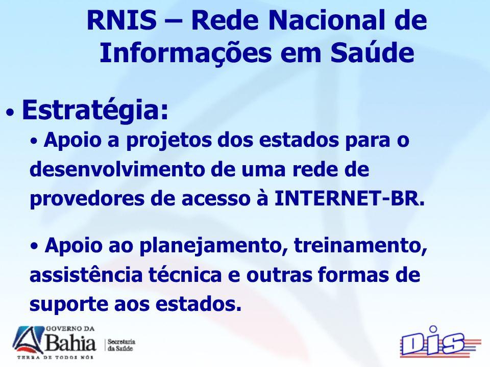 RNIS – Rede Nacional de Informações em Saúde