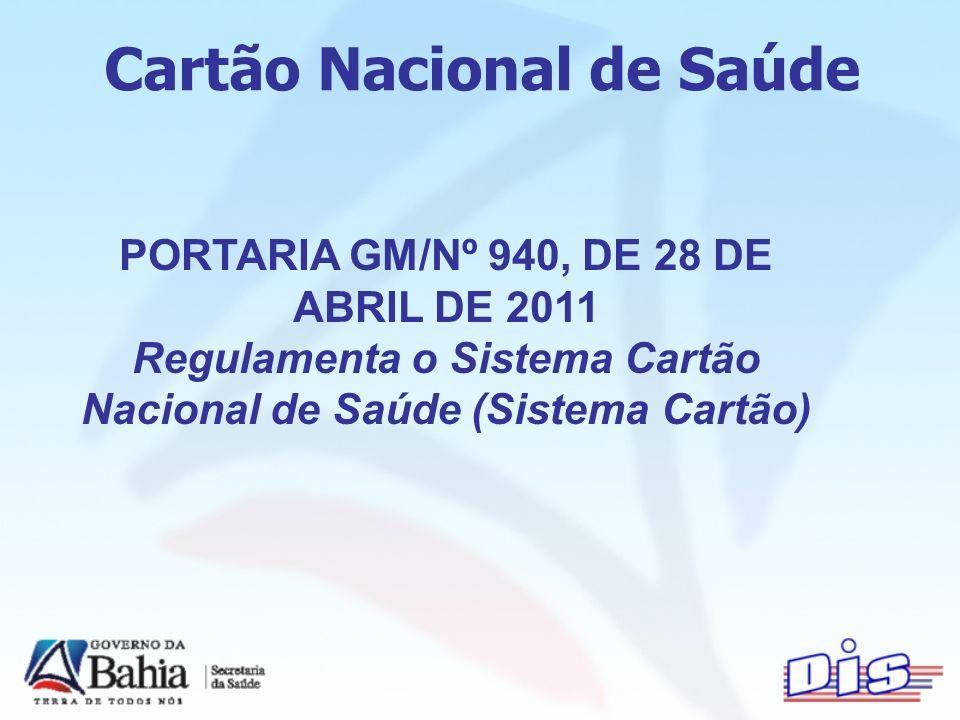 PORTARIA GM/Nº 940, DE 28 DE ABRIL DE 2011