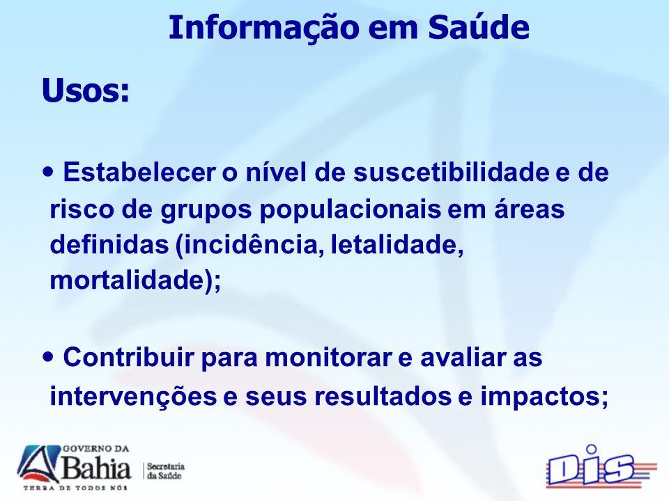 Informação em Saúde Usos: