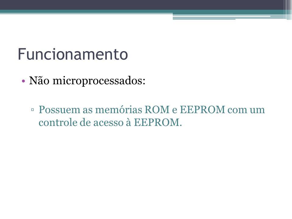 Funcionamento Não microprocessados: