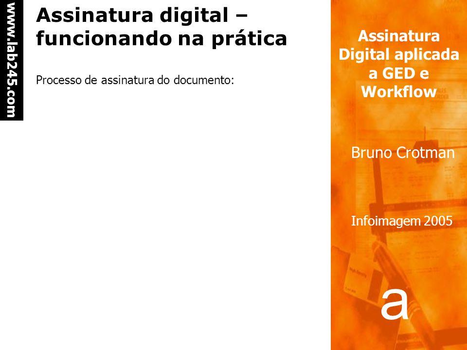 Assinatura digital – funcionando na prática