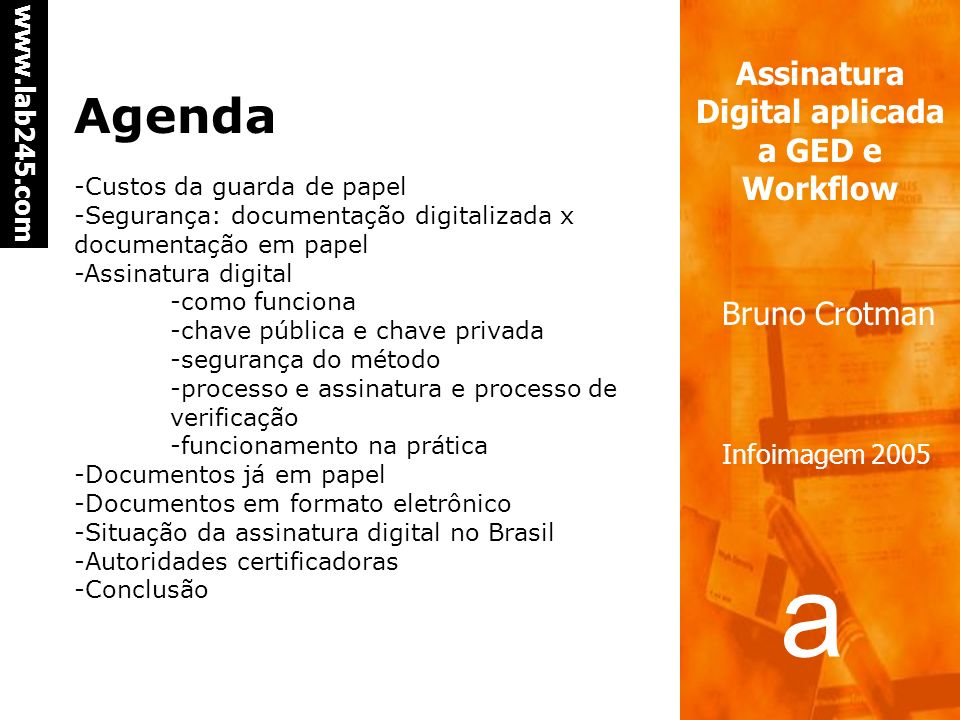 Agenda -Custos da guarda de papel