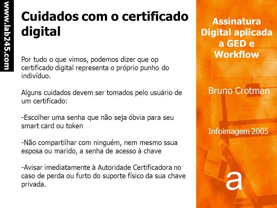 Cuidados com o certificado digital