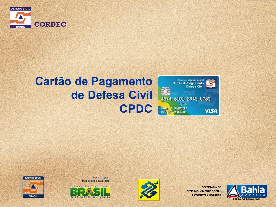 Cartão de Pagamento de Defesa Civil CPDC