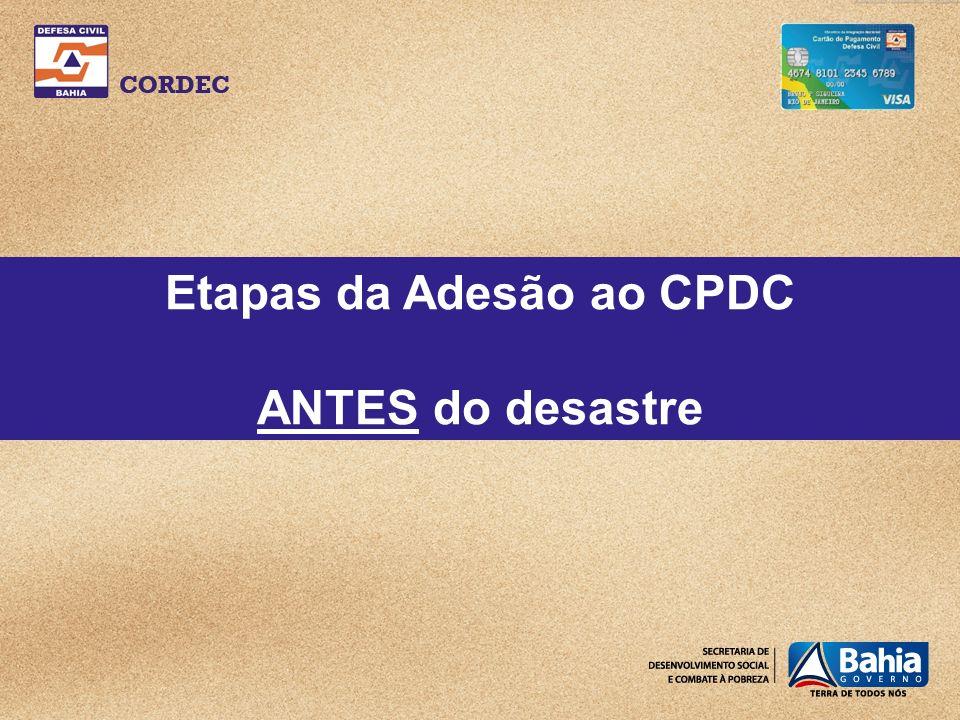 Etapas da Adesão ao CPDC