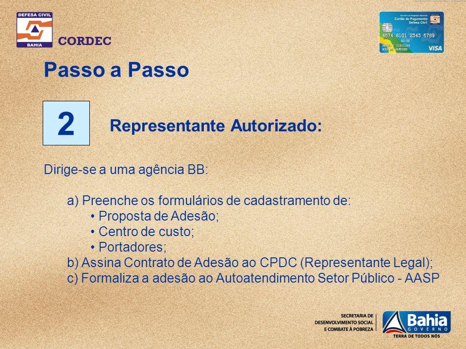 2 Passo a Passo Representante Autorizado: Dirige-se a uma agência BB: