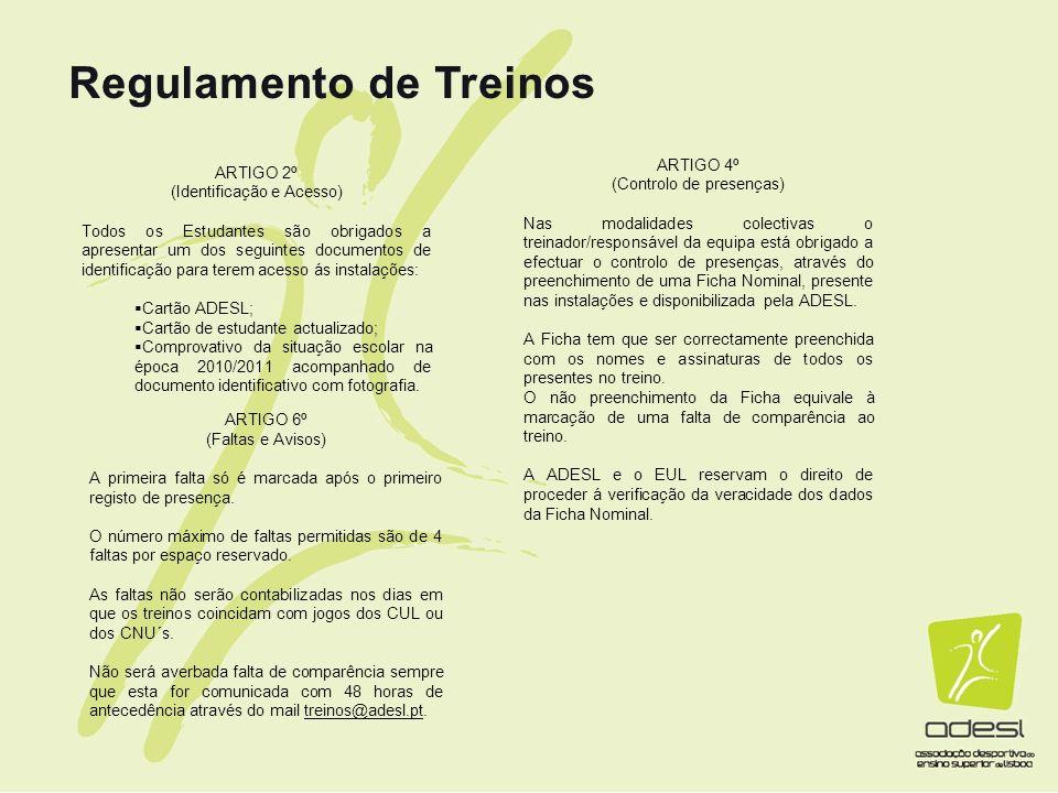Regulamento de Treinos