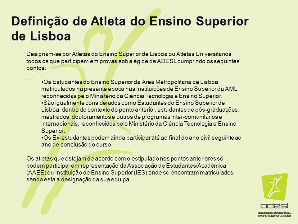 Definição de Atleta do Ensino Superior de Lisboa