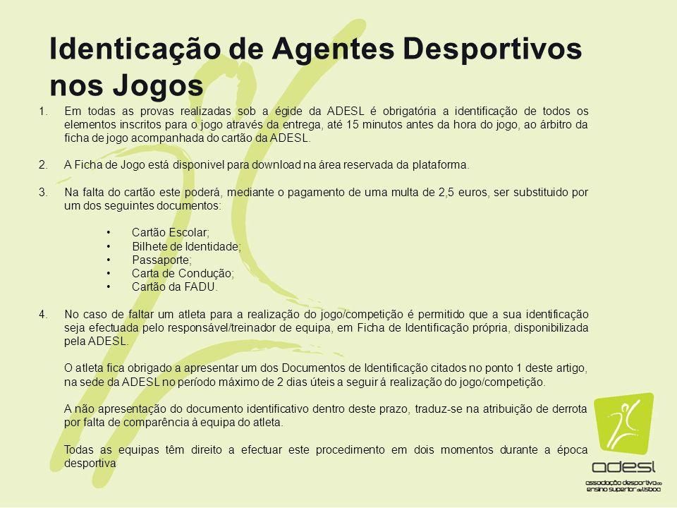 Identicação de Agentes Desportivos nos Jogos