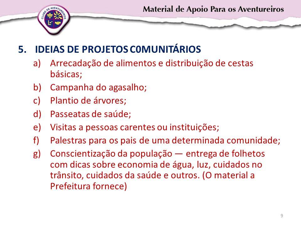 IDEIAS DE PROJETOS C0MUNITÁRIOS