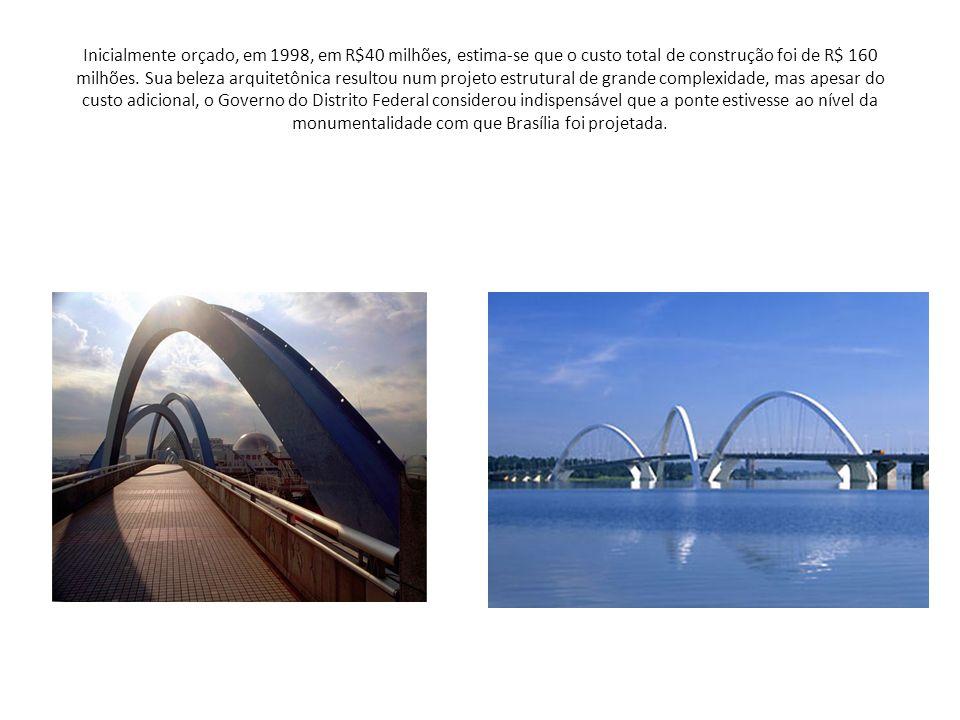 Inicialmente orçado, em 1998, em R$40 milhões, estima-se que o custo total de construção foi de R$ 160 milhões.