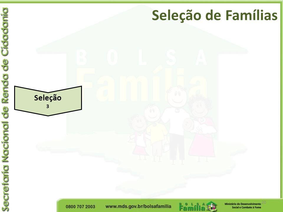 Seleção de Famílias Seleção 3