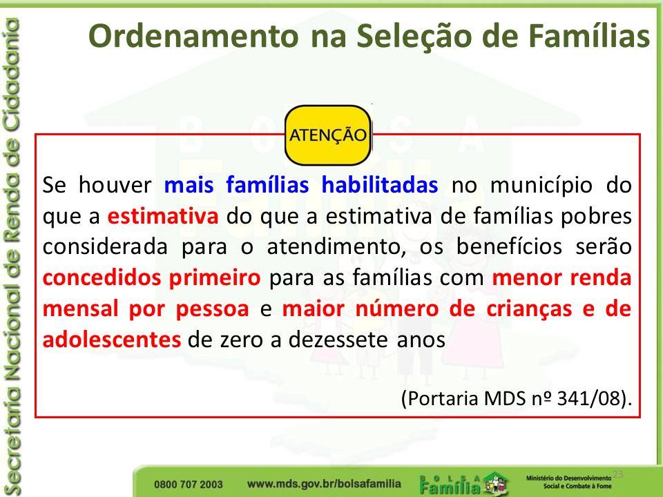 Ordenamento na Seleção de Famílias