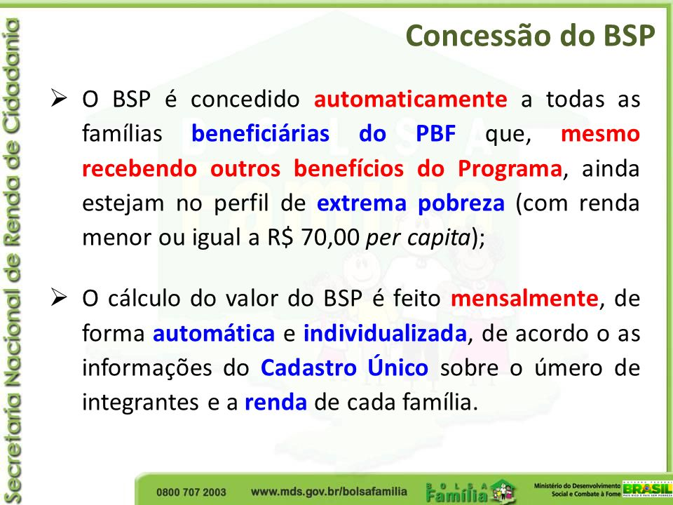 Concessão do BSP